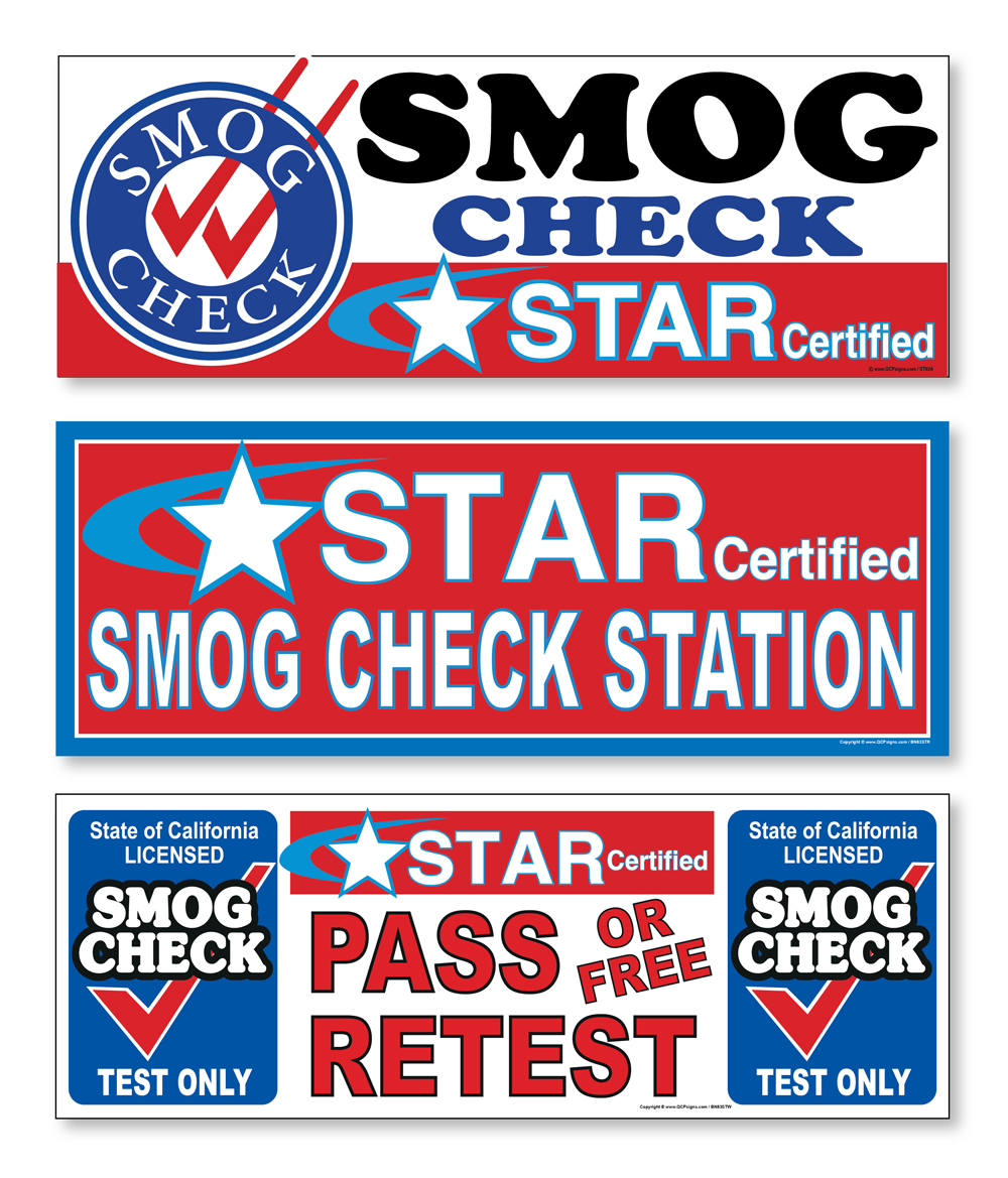 Smog Check Star Certified 3x8 Vinyl Banner Sign Qcpsigns