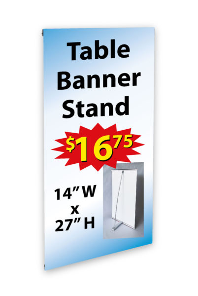 Counter Top Mini Banner Stand