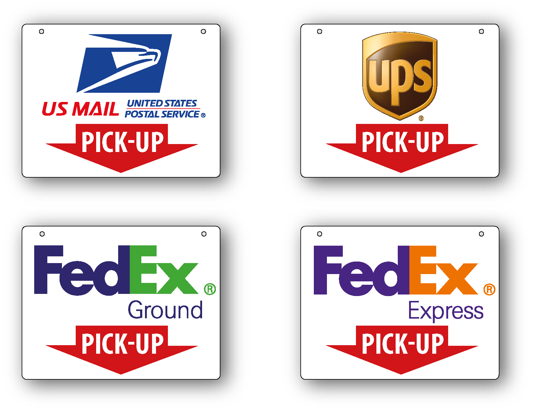Fedex Pickup Fee >> Usps Fedex Ups Pick Up Signs