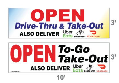 Takeout Togo Open Banner
